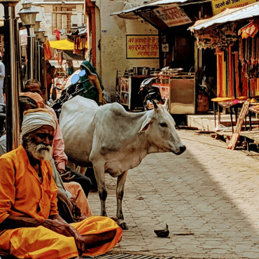 Street scene Orchha