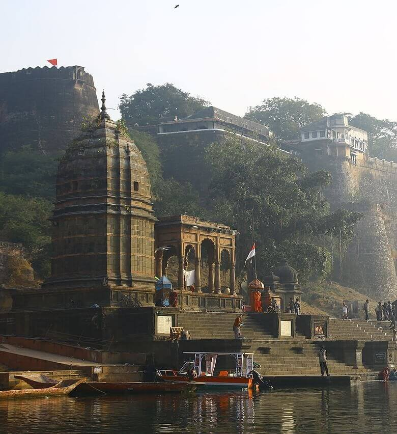 Ahilya Fort at Maheshwar on the Narmada Madhya Pradesh