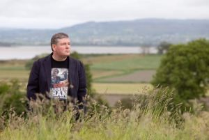 …. Author Darren Shan at home in Pallaskenry, Co. Limerick. - Photo: Kieran Clancy 11/6/2013 ©