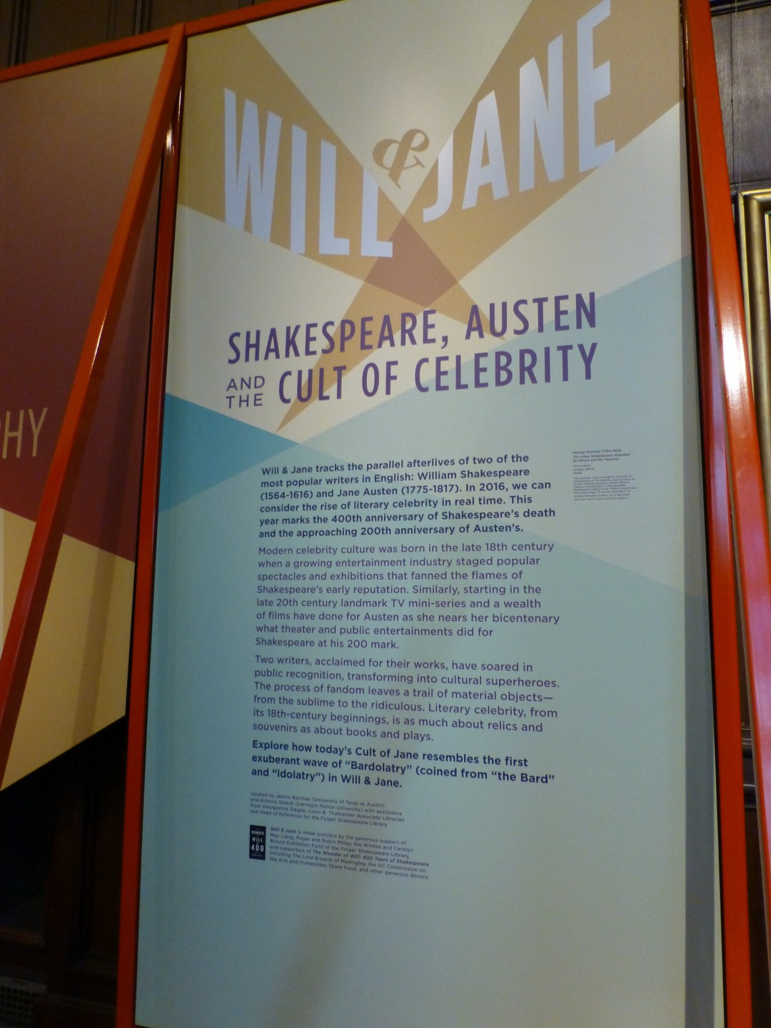 The Will & Jane exhibit shattered all prior attendance records at the Folger Shakespeare Library.