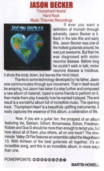 Jason Becker Triumphant Hearts Powerplay Review – 9 Out of 10