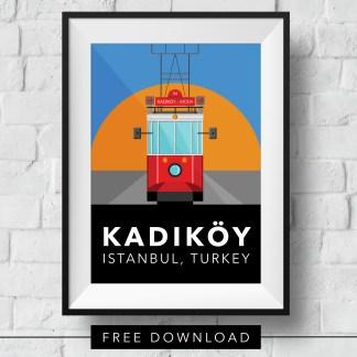kadikoy-tram-poster-framed-free-download
