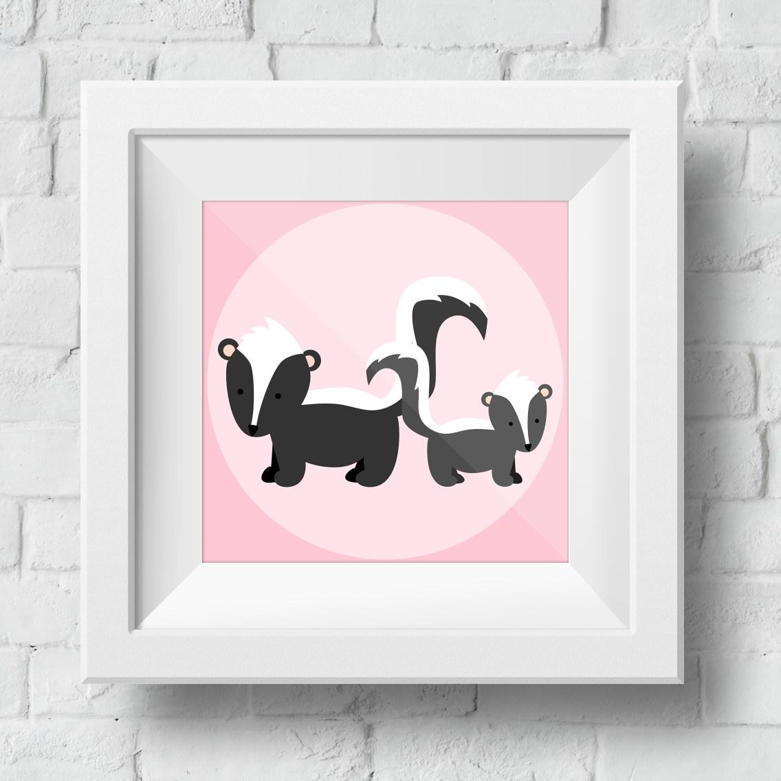 baby-skunk-framed