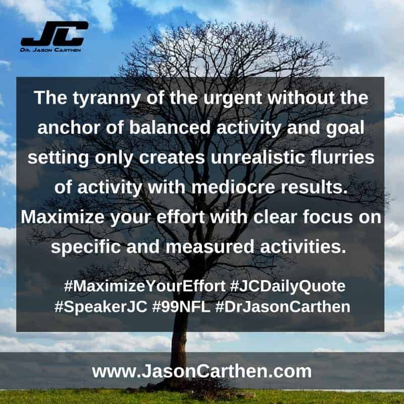 Dr. Jason Carthen:  Maximize Your Effort