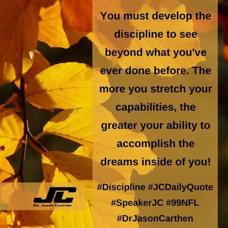 Dr. Jason Carthen: Discipline