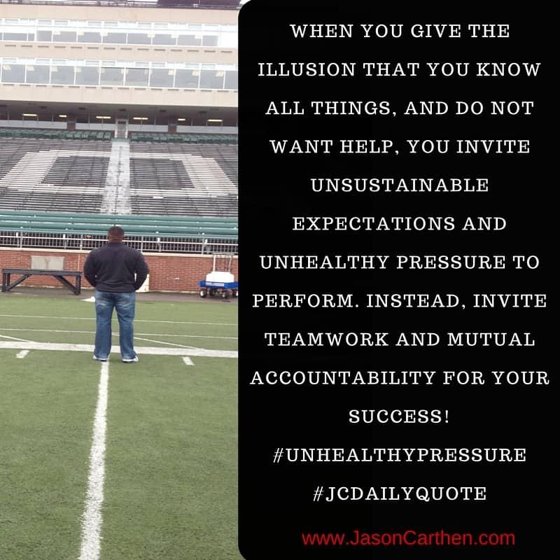 Dr. Jason Carthen: Unhealthy Pressure