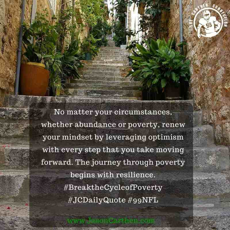 Dr. Jason Carthen: Poverty, Resilience, Steps, JC DailyQuote_4.19.2016