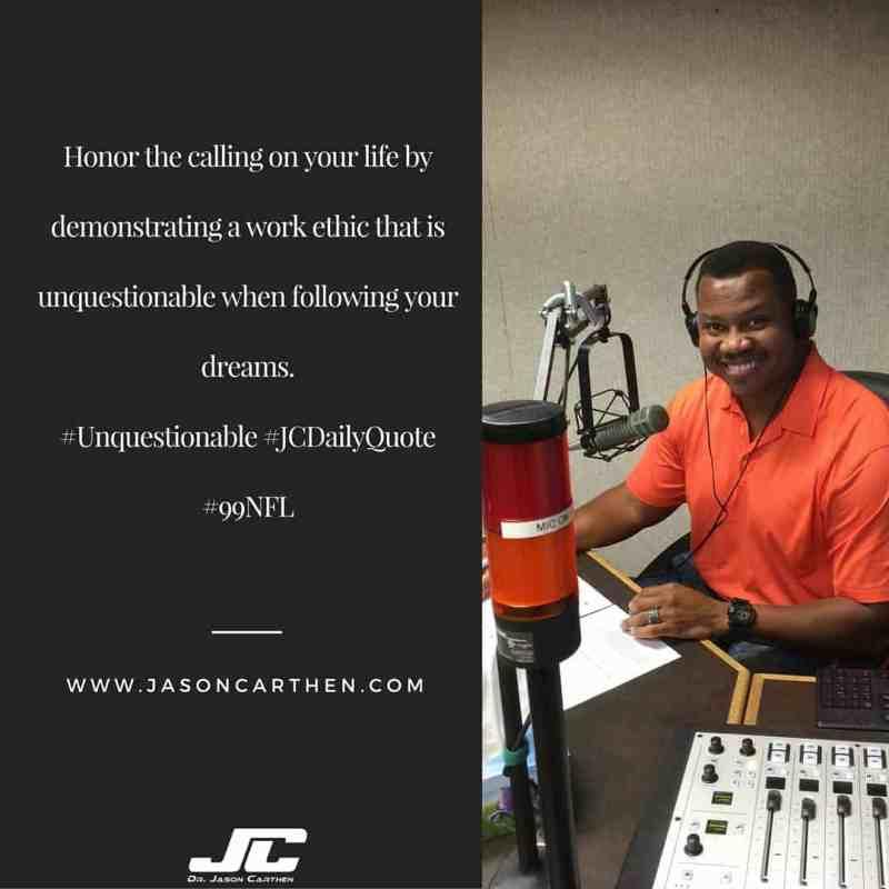 Dr. Jason Carthen: Honor