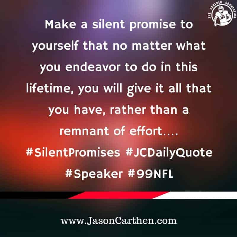 Dr. Jason Carthen: Promises