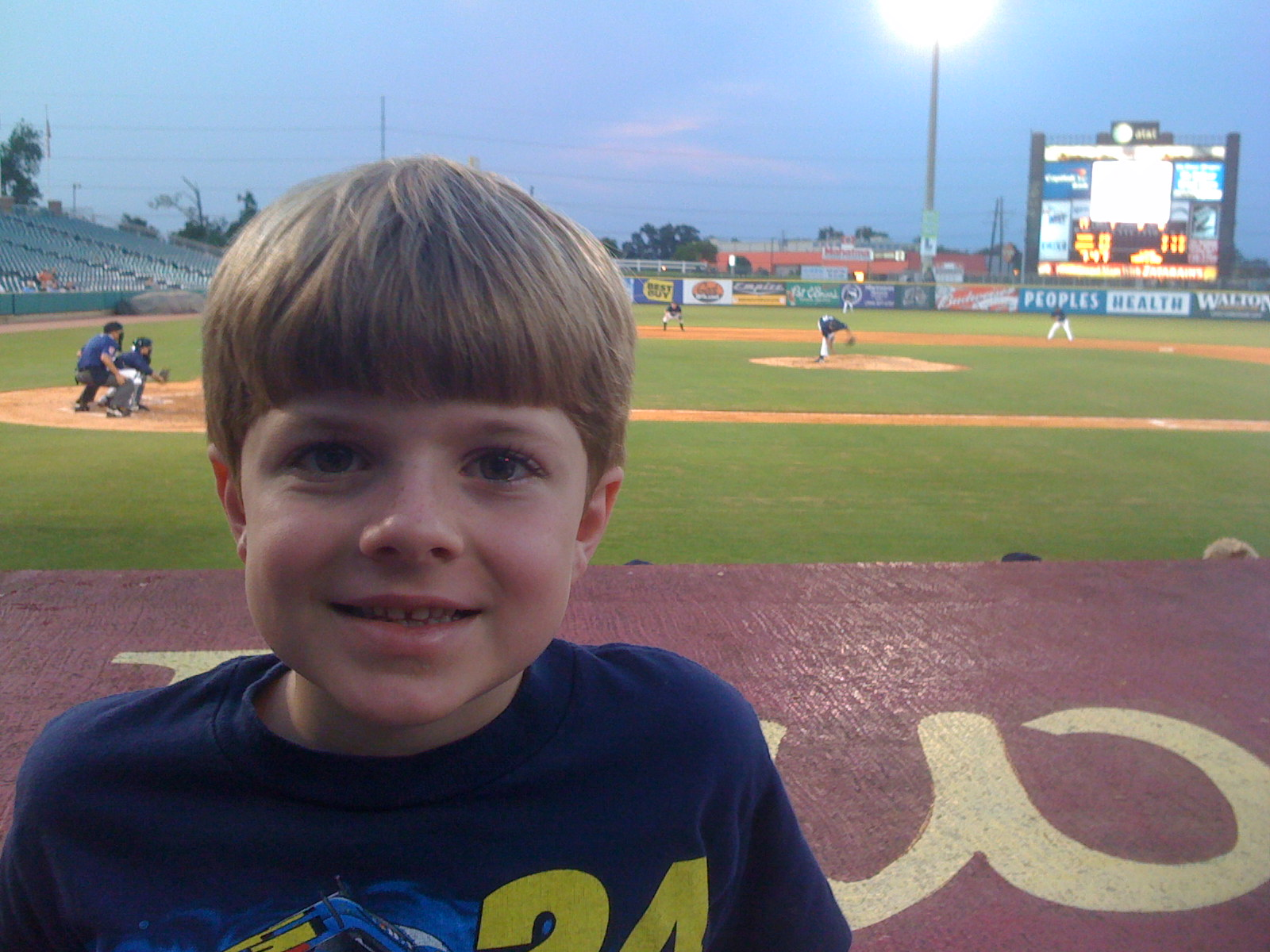 Caleb and I at a New Orleans Zephyrs game.