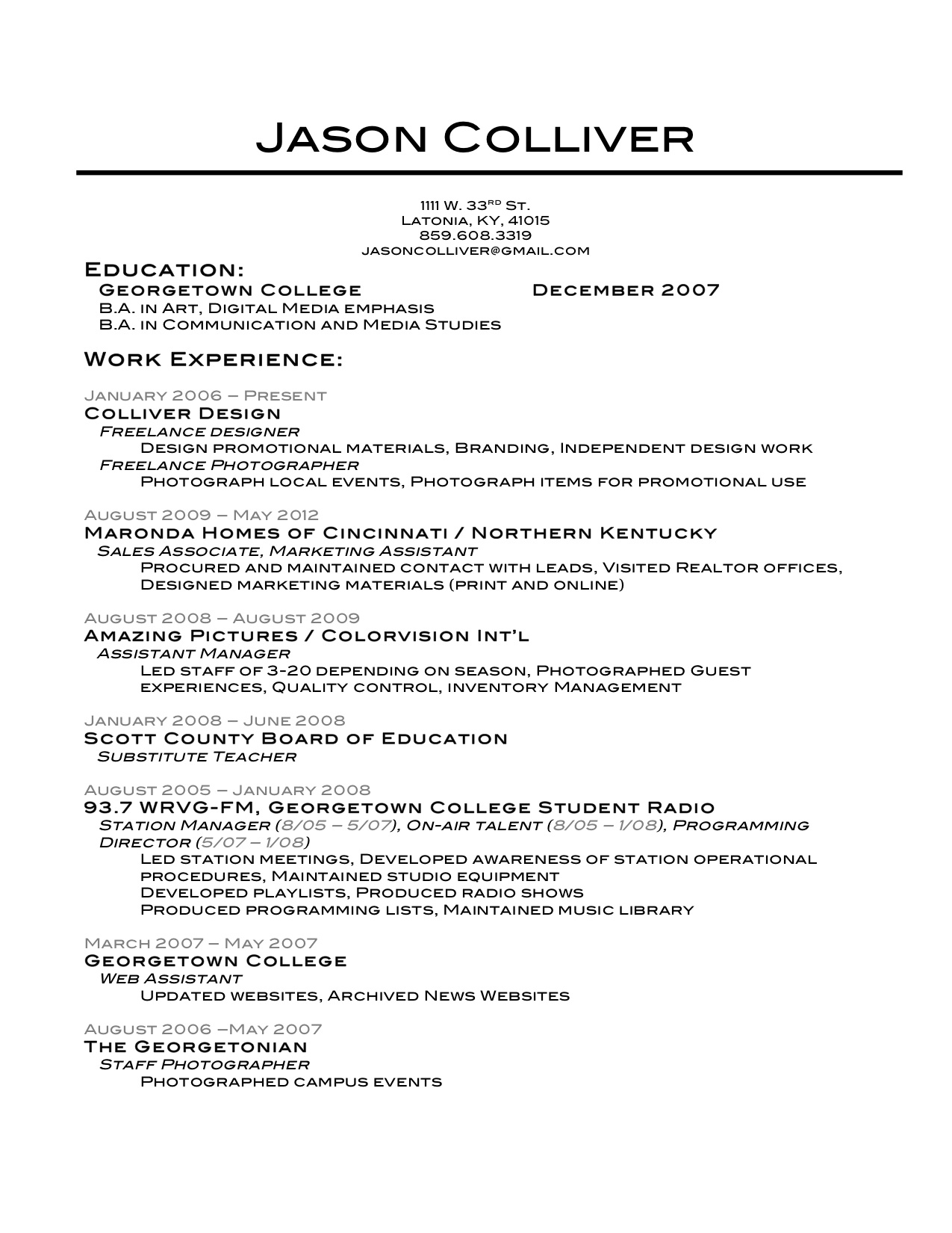 Coolest Resumes Jason Colliver Smile Youre At The Best Wordpress