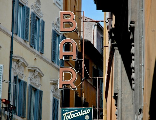 espresso bar sign, rome