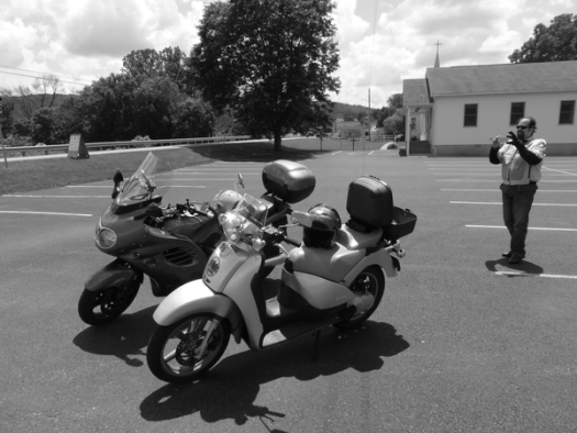 We spent most of the non-riding time photographing our bikes.