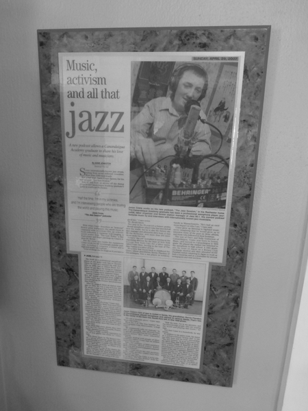 Mounted newspaper article given to me by my parents