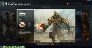 Call of duty Black Ops 3 Reaper Specialist