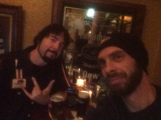 Myself and NY Times bestselling author Jay Kristoff, hanging out at a pub in San Francisco.