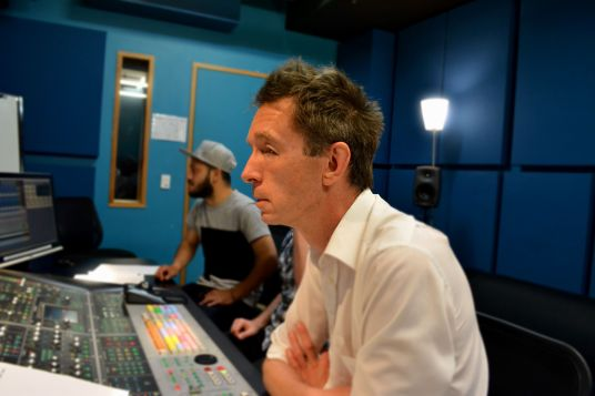 Recording David McLeod with Andres Perez (Assistant)
