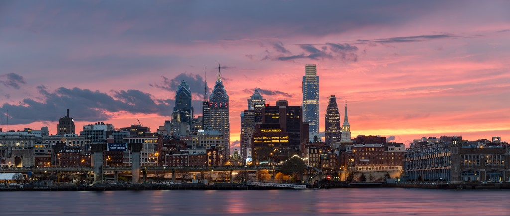 Sunset over Philadelphia