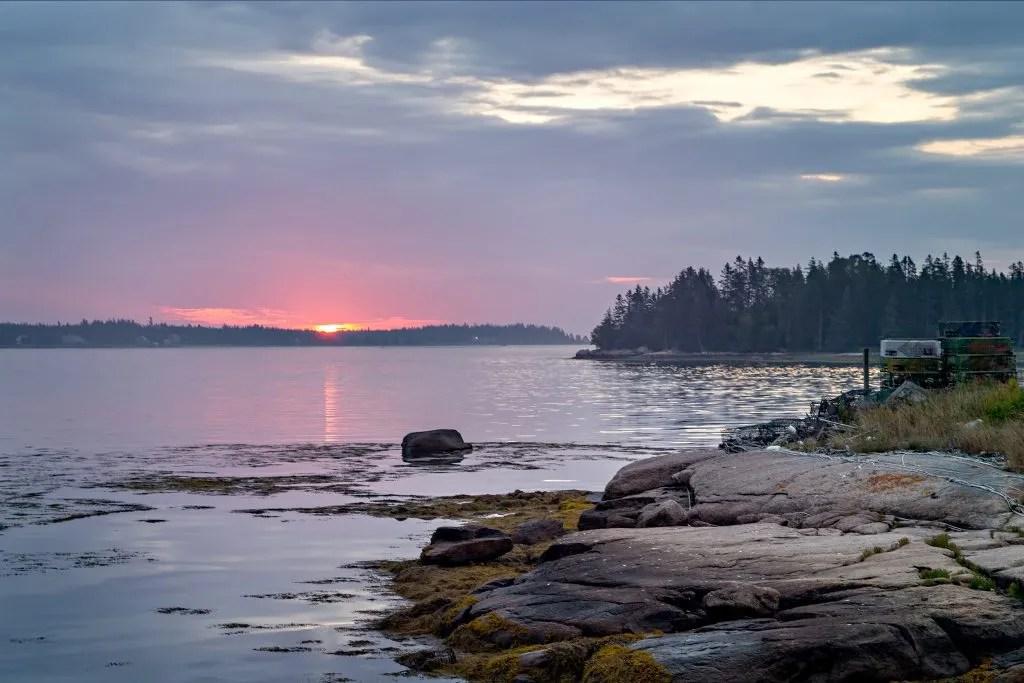 Sunrise in Beals Maine