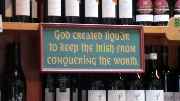 Loved this sign in the Irish bar!