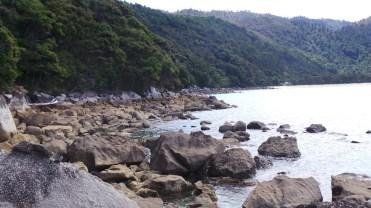 End of the rocks I climbed around