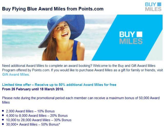Flying Blue Promo