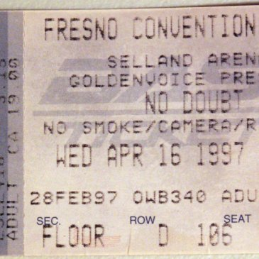 No Doubt at The Sellend Arena – April 16, 1997
