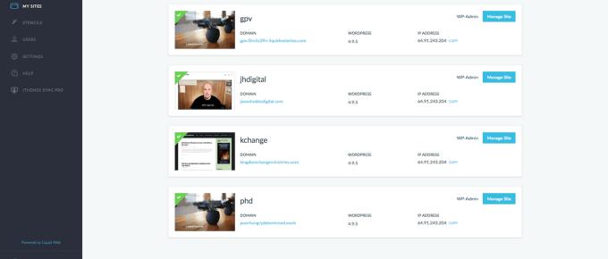 Screenshot of my dashboard for Liquid Web's Managed WordPress Hosting