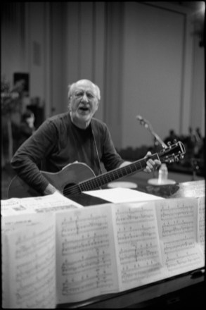 Peter Yarrow, of the folk band Peter, Paul and Mary during rehearsal, circa 2012