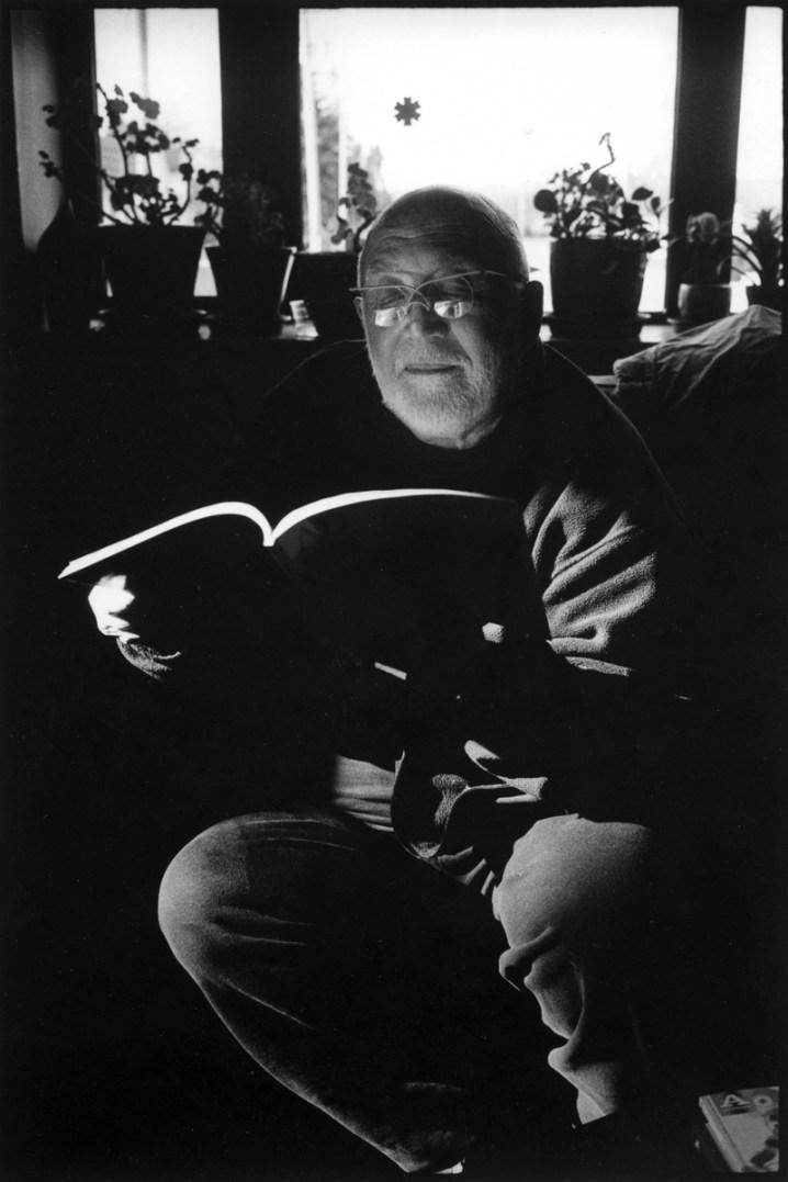 David Damkoehler, sculptor and professor emeritus, at his home, circa 2017