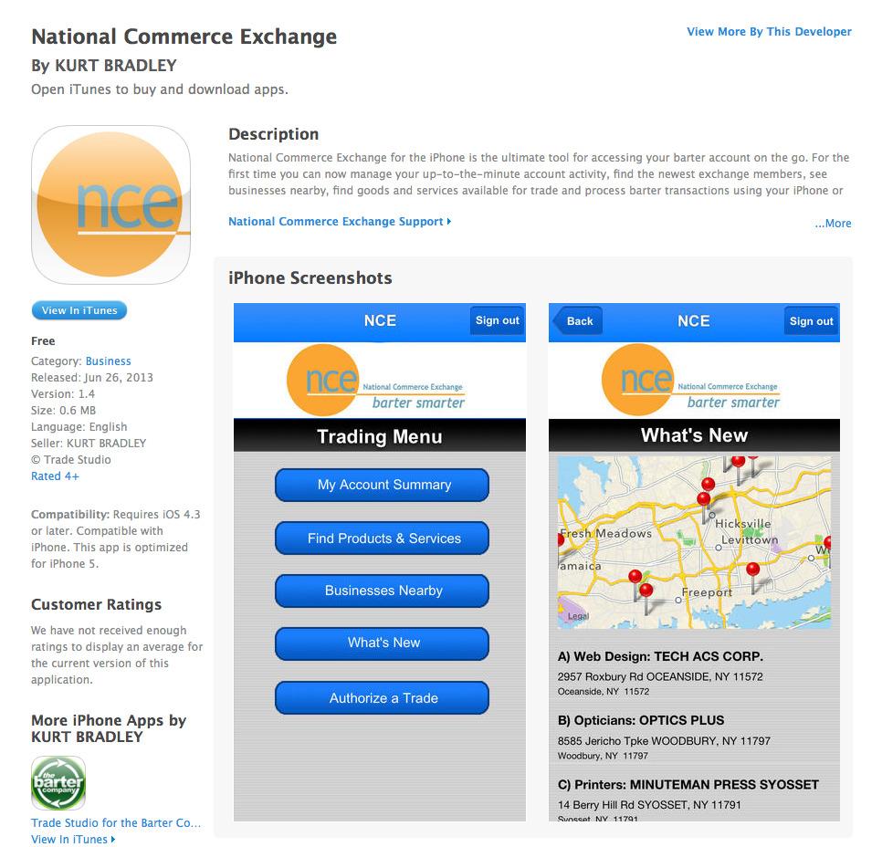 Trade Studio for National Commerce Exchange