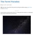 Urban, Tim. The Fermi Paradox. 2014.