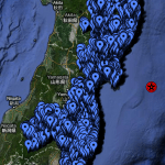 Shelters in northeast Japan - click to enlarge
