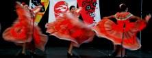 Joyful folkloric dancers