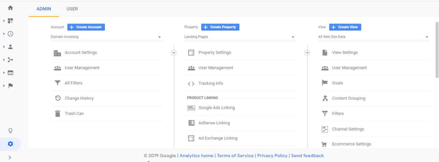 Create Account Google Analytics