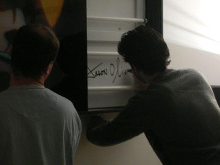 Jason Oliva signing lightbox NYC 2007