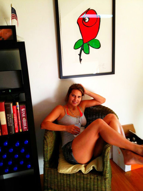 woman-with-framed-rose