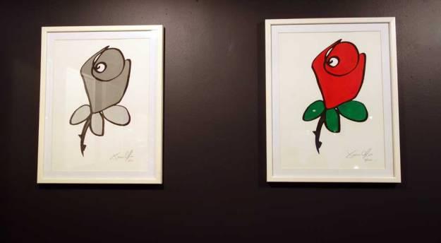 Jason-Oliva-Rose-works-on-paper-small-framed