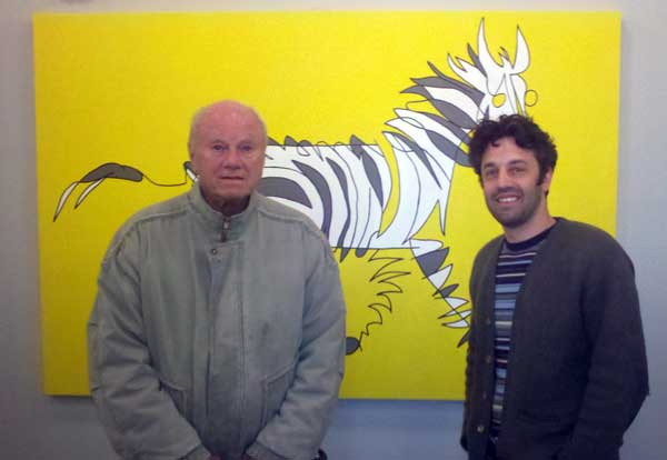 wine-James-Rosenquist-Jason-Oliva-Stripey Horse-Zebra-Painting