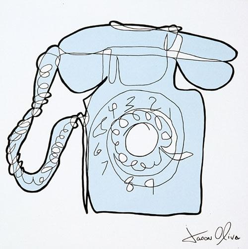 Phone Jason Oliva Painting 2004