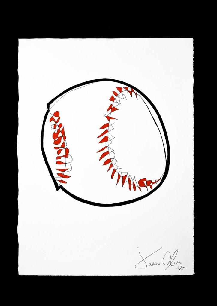 Jason Oliva Baseball Work on Paper