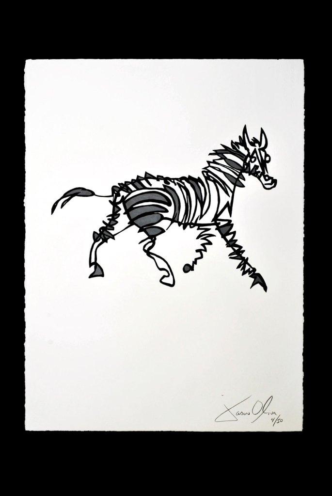 Zebra Stripey Horse Jason Oliva Art Work Painting