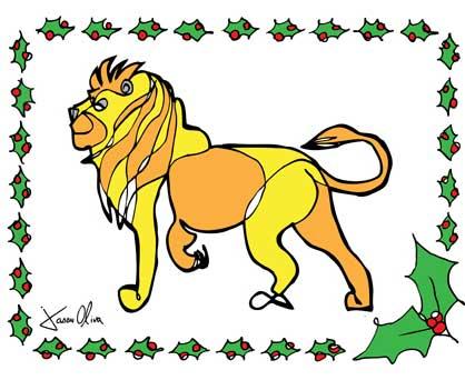 Holiday Card Jason Oliva Lion