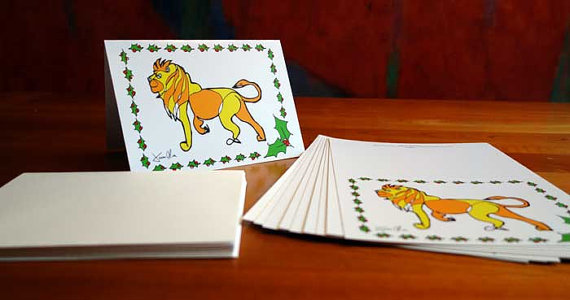Holiday Card Lion Jason Oliva Christmas Card