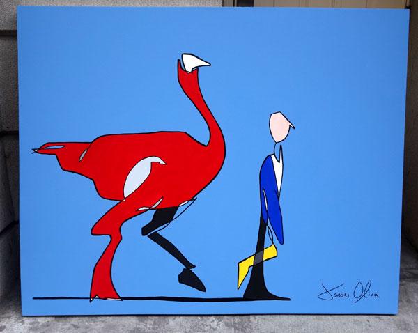 Ostrich-Cavallo-2013-Jason-Oliva-Painting-4