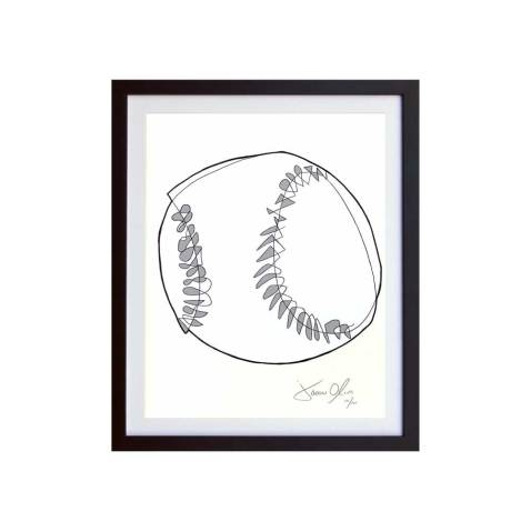 Small Grey Framed work on paper by Jason Oliva