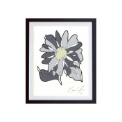 Grey-Flower-Color-framed-small-work-on-paper-jason-oliva
