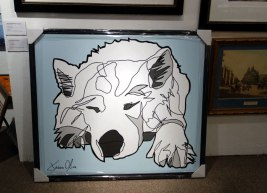 Lumi Dog Portrait after framing by Jason Oliva