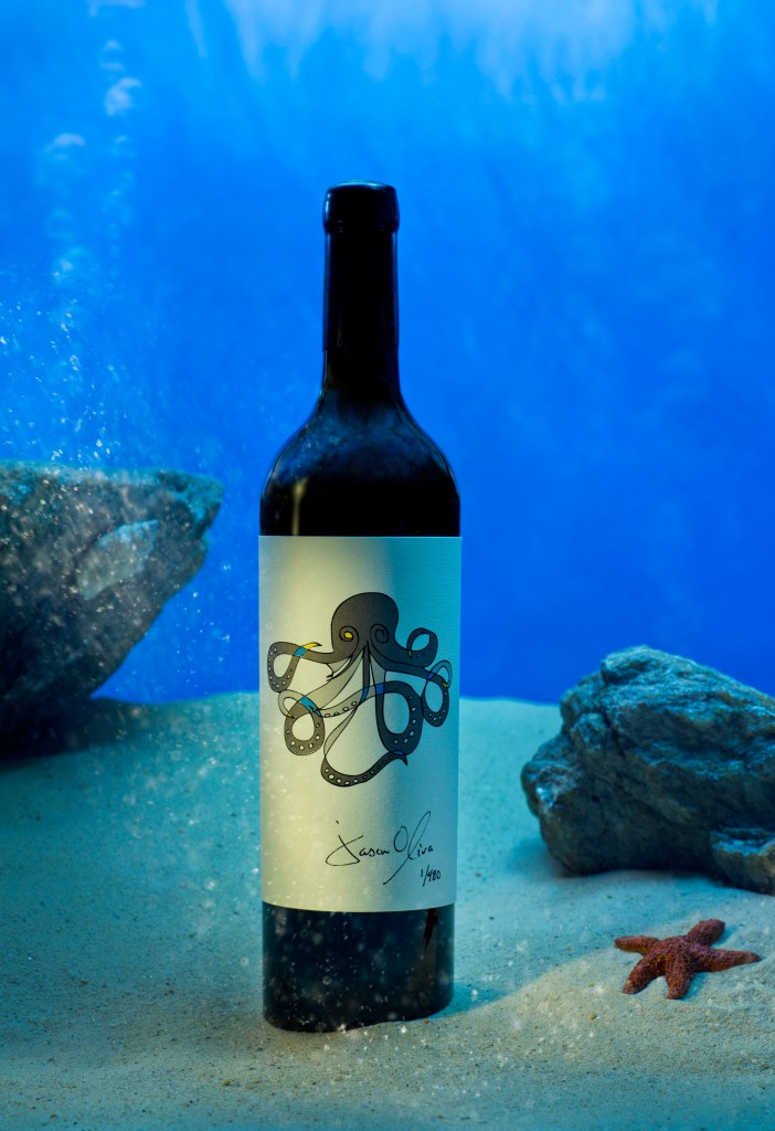Jason Oliva Wine Octopus 2010 Bordeaux Blend from Stellenbosch South Africa signed and numbered by artist Jason Oliva