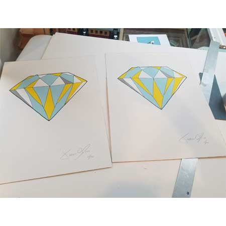 Jason Oliva Diamond small work on paper